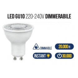 LAMPADA GU10 120° LED 6W 4000K DIMMERABL
