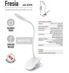 FRESIA LAMPADA DA TAVOLO CON CLIPS