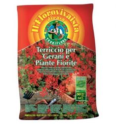 TERRICCIO GERANI E PIANTE FIORITE LT.20