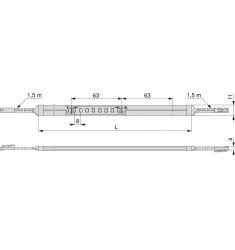 NEONLYNX 7,6W/M IP65 24V DC 4.000K 1M