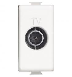 Matix - Presa TV passante 14dB 1M bianco