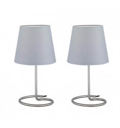 TWIN SET 2 LAMPADE DA TAVOLO BASE METALL