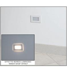 LAMPO - SEGNAPASSO BIANCO /INOX 3W 3000K
