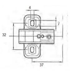 BASETTA DI MONTAGGIO H00 PER CERN. A0063